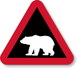 Polar Bear Crossing Symbol Sign