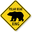 Polar Bear Xing Animal Crossing Sign