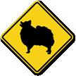 Pomeranian Symbol Guard Dog Sign