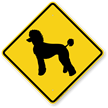 Poodle Symbol Guard Dog Sign