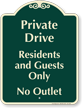 Private Drive, Residents and Guests Signature Sign
