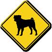 Pug Symbol Guard Dog Sign