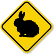 Rabbit Graphic Crossing Sign