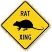 Rat Xing Road Sign