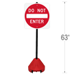 Do Not Enter, 58in Portable Sign Holder Kit