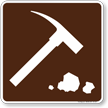 Rock Collecting Symbol Sign For Campsite