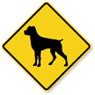 Rottweiler Symbol Guard Dog Sign