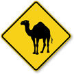 Running Camel Crossing Symbol Sign