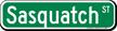 Sasquatch Street Sign