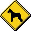Schnauzer Dog Symbol Crossing Sign
