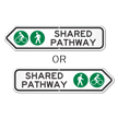 Shared Pathway Directional Sign