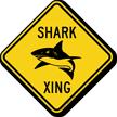 Shark Xing Animal Crossing Sign