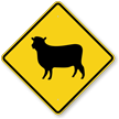 Sheep Crossing Symbol Sign