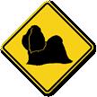 Shih-Tzu Symbol Guard Dog Sign