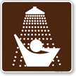 Showers Symbol Sign For Campsite