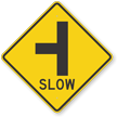 Side Road T-Junction Symbol Sign