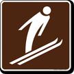 Ski Jumping Symbol Sign For Campsite