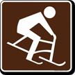 Skiing (Bobbing) Symbol Sign For Campsite