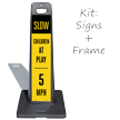 Slow Children At Play 5 MPH LotBoss Portable Sign Kit