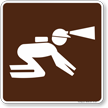 Spelunking Symbol Sign For Campsite