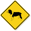 English Springer Spaniel Symbol Guard Dog Sign