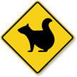 Squirrel Crossing Symbol Sign