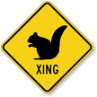 Squirrel Xing Road Sign