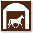 Stable Symbol Sign For Campsite