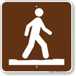 Stay on Trail Campground Symbol Sign
