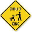 Stroller Xing Baby Crossing Sign