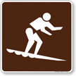 Surfing Symbol Sign For Campsite
