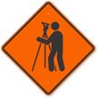 Surveyor Symbol Road Sign