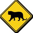 Tiger Crossing Symbol Sign