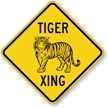 Tiger Xing Animal Crossing Sign