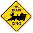 Toy Train Xing Diamond Crossing Sign