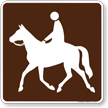 Trail (Horse) Symbol Sign For Campsite