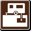 Trailer Sanitary Station Symbol Sign For Campsite
