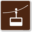 Tramway Symbol Sign For Campsite