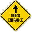 Truck Entrance Ahead Diamond-shaped Traffic Sign