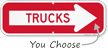 Trucks Directional Sign