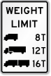 Trucks Weight Limit Sign