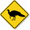 Turkey Crossing Symbol Diamond Crossing Sign