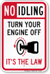 Turn Your Engine Off No Idling Sign