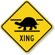 Turtle Xing Road Sign