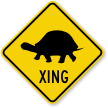Turtle Xing With Symbol Crossing Sign