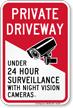 Under 24 Hour Surveillance Private Driveway Sign