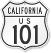 US 101 California Route Marker Shield Sign