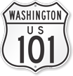 US 101 Washington Route Marker Shield Sign
