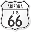 US 66 Arizona Route Marker Shield Sign