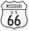 US 66 Missouri Route Marker Shield Sign